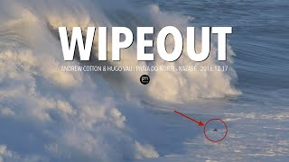 British Big Wave Surfer's Wipeout and Jet ski capsized in Nazaré, Portugal
