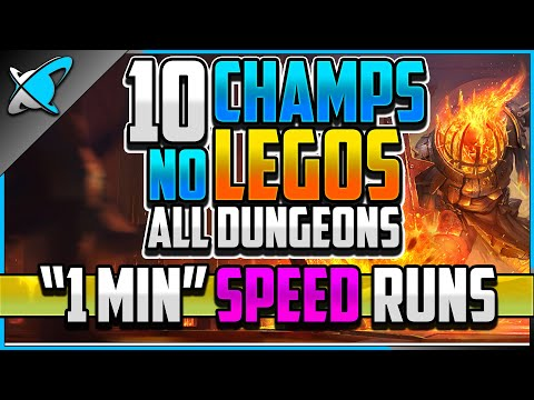 """10 CHAMPS... NO LEGO... """"1 MIN"""" Speed Dungeons 