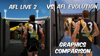 AFL Live 2 vs AFL Evolution (Graphics Comparison)