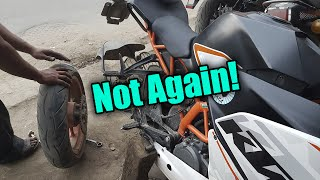 Motovlog #14 Second Puncture | Back to Back punctures!