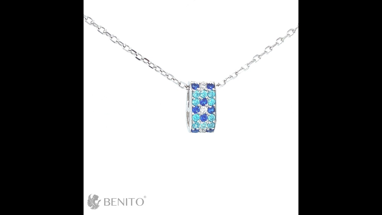 Paolina Pendant Blue Spinel and Zircon Stones