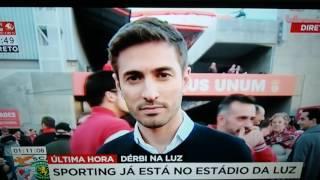 Nuno Luz manda dois palavrões na antevisão Benfica-Sporting (Sic Notícias).