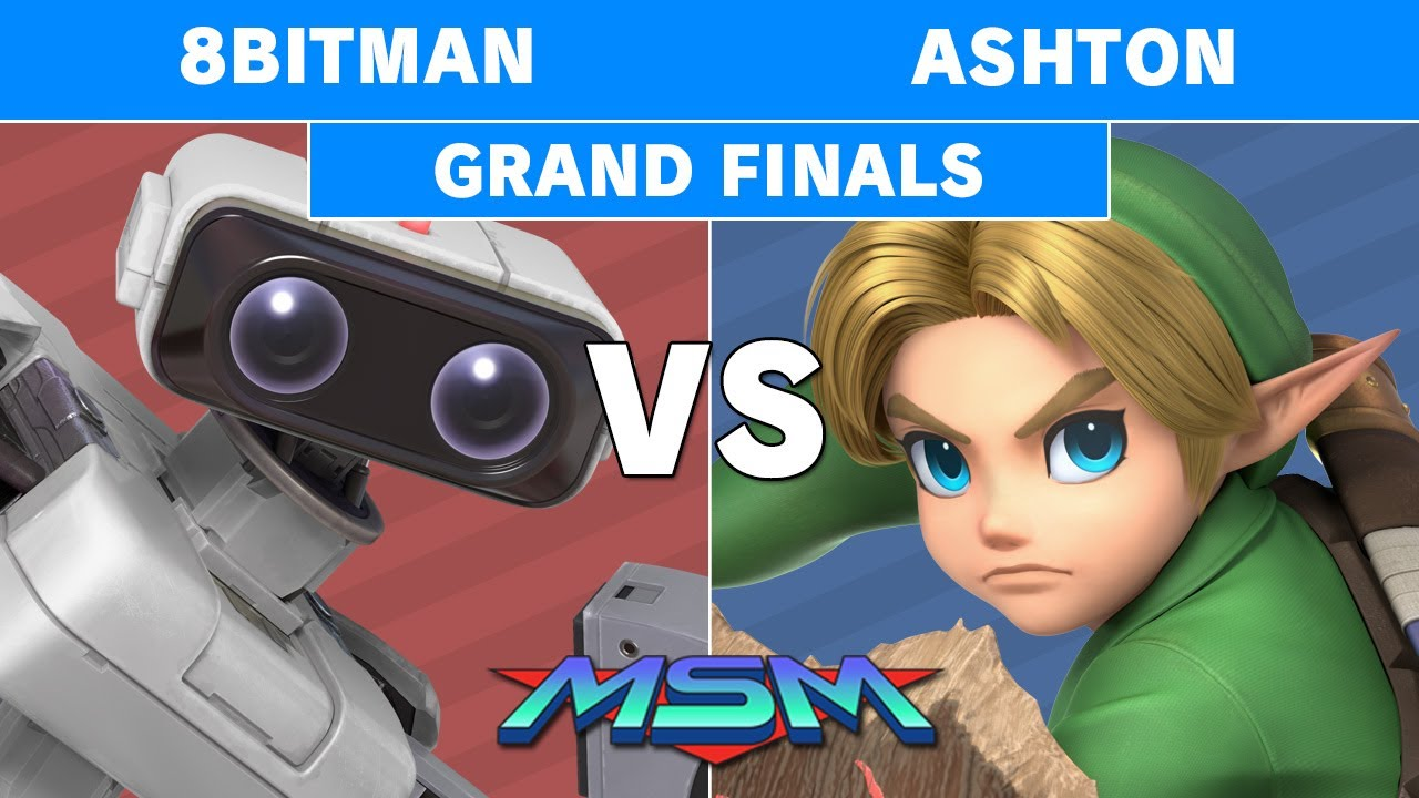 2GGaming - MSM Online 29 - Ashton (Young Link) Vs. 8Bitman (R.O.B) Grand Finals - Smash Ultimate