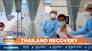 Thai cave rescue: Officials release 1st video of rescued boys in hospital width=