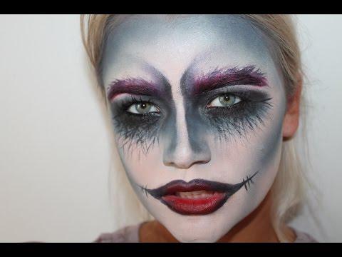 Halloween Sminkek.Harley Skellington Makeup Tutorial Harley Skellington