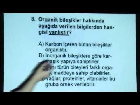 Biyoloji-1 Açık Lise Sınavı 21 Ocak 2012 - Soru 8 www.bkegitim.com