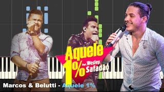 Aquele 1%   Marcos & Belutti [Tutorial Piano] (Cover)