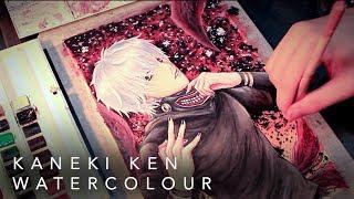 Tokyo Ghoul - Kaneki Ken Watercolor Painting | By A.B.Kei