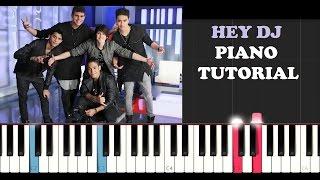 CNCO - Hey DJ (Piano Tutorial)