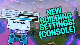NEW Build Settings! Building Sensitivity, Instant Builds, Confirm Edit (Fortnite Console PS4/Xbox)