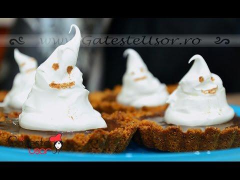 Reteta de Tarte cu Ciocolata si Fantome din Bezea pentru Halloween
