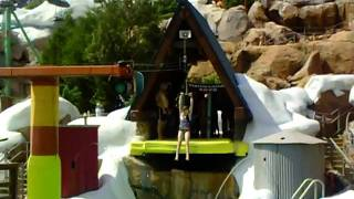 Kate Flying off the zip wire.AVI