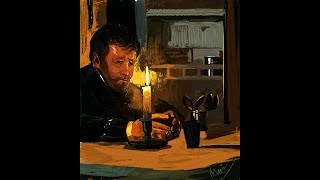 Sitting by the Candlelight - Timelapse/Speedpainting
