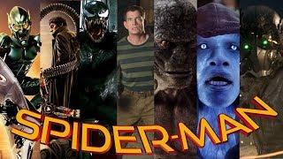 ALL Spiderman Movie Villains (2002 - 2017)