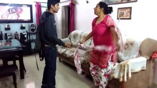 Indian Mother reaction when son caught with drugs.  Prank Gone Wrong width=