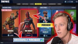 So I donated $43 for Tfue to buy a skin from the item shop...