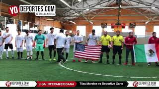 Ceremonia de la Final Tilza Morelos vs Deportivo Cano Liga Interamericana