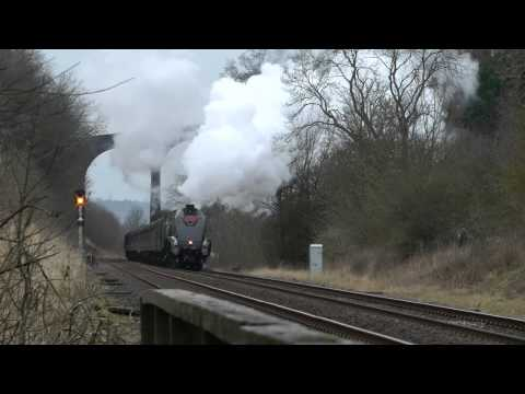 LNER A4 60009 The Winter Cumbrian Mountain Express 16th Feb 2013