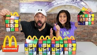 Don't Choose The Wrong McDonald's Happy Meal Slime Challenge with DAD!!!