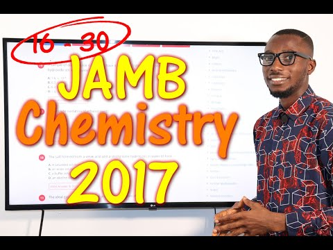 JAMB CBT Chemistry 2017 Past Questions 16 - 30