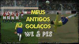 Nostalgia: GOLAÇOS nos antigos PES & WE // Gol de falta de R. Carlos // Gol Olimpíco