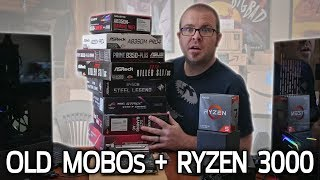 Does Ryzen 3000 REALLY Work on Old Motherboards? Testing B350, X370, B450 and X470