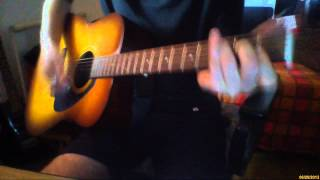Goodbye Kiss (Kasabian) acoustic guitar + voice cover
