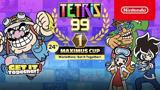 Tetris 99\'s next cross-over theme is with WarioWare: Get it Together