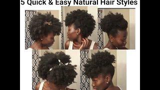 Sensational Download Video 4 Quick Amp Easy Styles For Short Natural Hair Short Hairstyles For Black Women Fulllsitofus