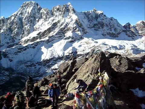 360° view from Gokyo Ri (5360m) Nepal