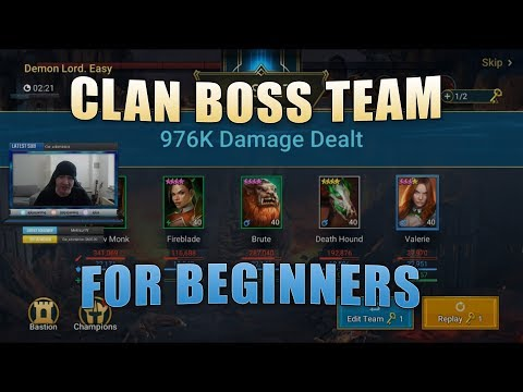 1 Million Damage Beginner Clan Boss Team