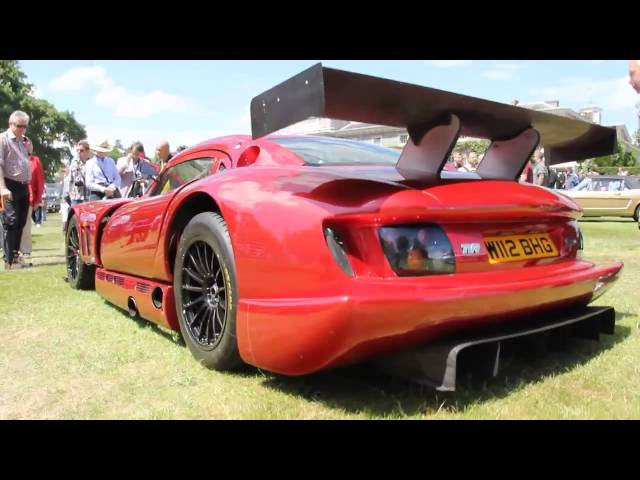 Wide extreme TVR Cerbera Speed 12 super car  roadcar is a monster! Goodwood Festival of Speed 2014