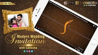 Hindu Traditional Wedding Invitation with Ganesha | VG-723 Updated