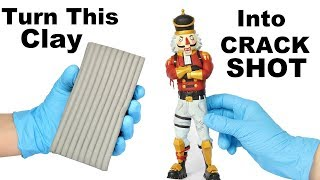 How To Sculpt CRACKSHOT from Fortnite (polymer clay tutorial)