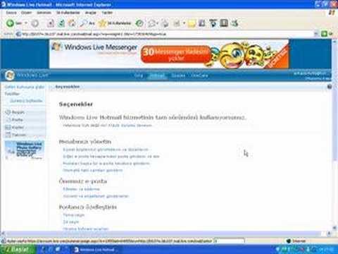 Msn Hotmail Şifre Değiştirme