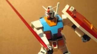 RX-78-2 Gundam Beam Saber test Stop motion (GUNPLA)