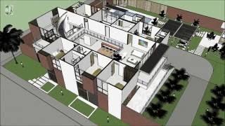 Casa Moderna de 4 pisos Chinchiná distribución arquitectónica