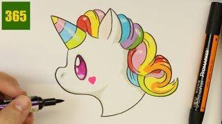 comment dessiner une licorne emoji kawaii dessiner kawaii facile comment dessiner emoji - Comment Dessiner Une Licorne