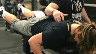 Ronda Rousey takes his workout into the unforgiving WWE PC as she prepares for WrestleMania 34