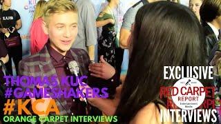 Thomas Kuc #GameShakers interviewed at 2017 Kid's Choice Awards Red Carpet #KCA