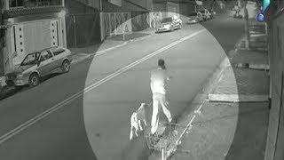 Imagens mostram homem sendo baleado em tentativa de roubo de celular em Santo André
