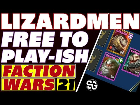 Lizardmen Faction war 21 F2P helpers Raid Shadow Legends Lizardmen FW 21 for Lydia