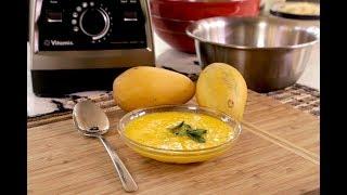 Postre helado de mango