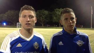 A home soccer game for the Martinez brothers