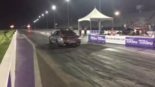 Audi RS 7 2014 vs BMW m6 gran coupe 2016 drag racing 1/4 mile.