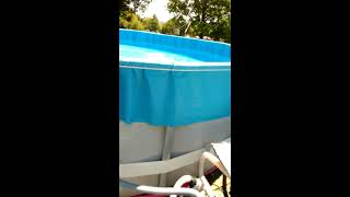 installing an overlap expandable liner in an intex/coleman type pool  part 2