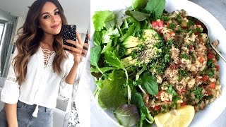 WHAT I ATE TODAY! Quick & Healthy Plant Based Food Ideas | Annie Jaffrey