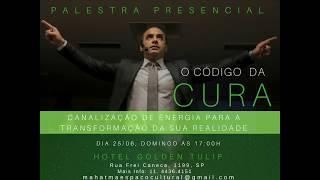 Convite para a Palestra Presencial o Código da Cura com Prof. Horácio Frazão em São Paulo