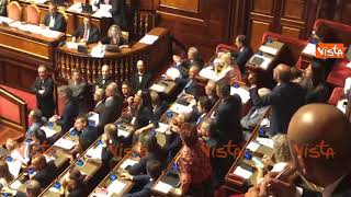 Il leghista Romeo attacca il PD su Bibbiano e scoppia la bagarre al Senato