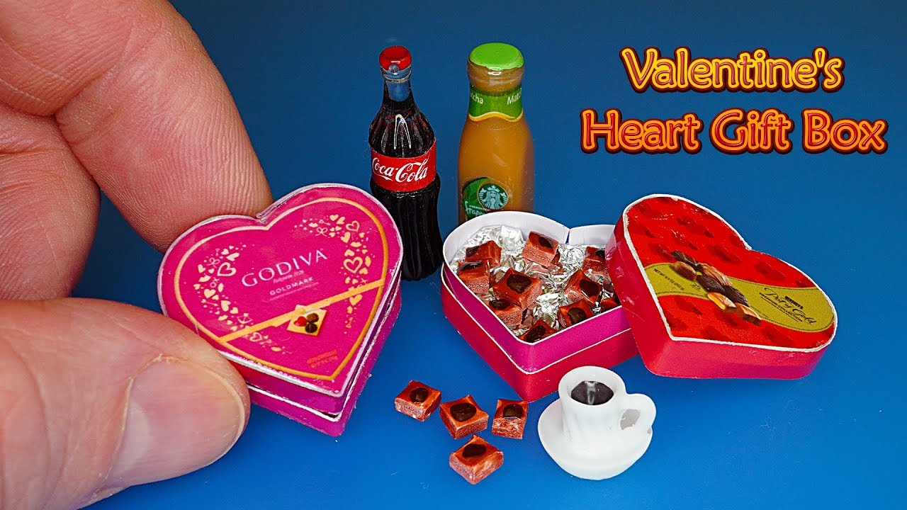 DIY Miniature Chocolate Valentine's Heart Gift Box